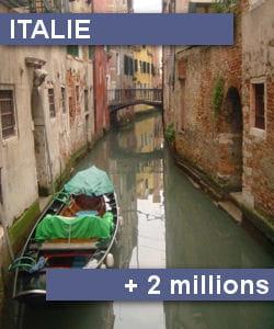 le solde migratoire de l'italie est de près de 2 millions d'individus entre 2007
