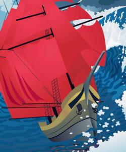 chez les marins, le grain désigne un vent violent.
