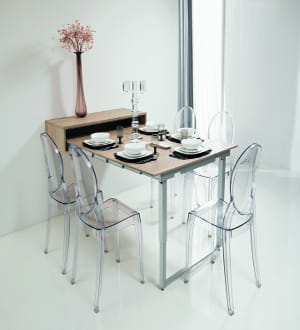 Une table d pliante murale gain de place de grandes - Table de cuisine murale ...