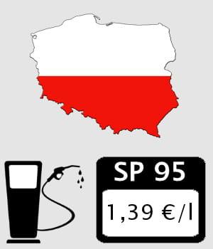 pologne 1 39 euro litre prix des carburants en europe les pays o l 39 essence et le diesel. Black Bedroom Furniture Sets. Home Design Ideas