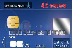 30e cr dit du nord avec une carte bleue visa 42 euros par an les cartes bancaires les. Black Bedroom Furniture Sets. Home Design Ideas