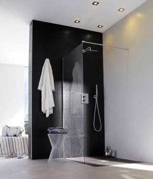 Une douche pur e notre s lection de douches l 39 italienne pour votre s - Castorama paroi de douche ...