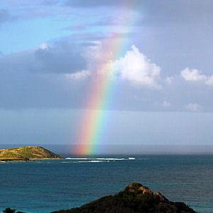 l'arc-en-ciel influe sur la météo.