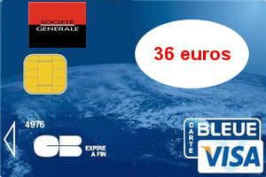 la carte visa de la société générale est facturée 46euros en débit différé.