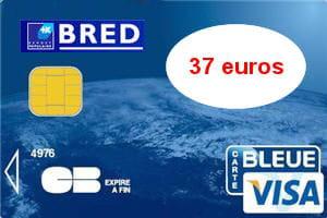 16e ex aequo banque populaire bred visa 37 euros par - Plafond de retrait carte visa banque populaire ...
