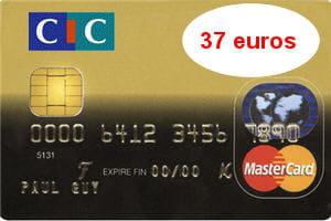 la cartemastercard du cicest facturée 45euros en débit différé.