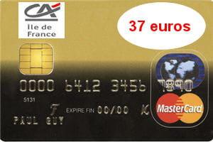 16e ex aequo cr dit agricole idf mastercard 37 euros - Plafond de retrait mastercard credit agricole ...