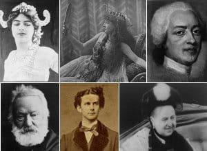 les amoureux célèbres de l'histoire.
