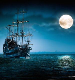 la légende du bateau fantôme et du hollandais volant.