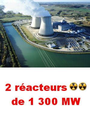 la centrale délivre un quart de la consommation par an en électricité de