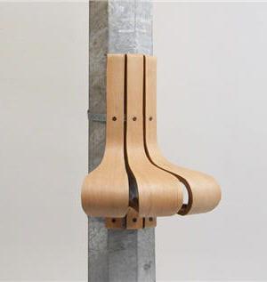 le siège s'adapte aux lampadaires de forme cylindrique et octogonale.