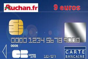 4e auchan avec une carte bleue visa ou mastercard 9 euros par an les cartes bancaires les. Black Bedroom Furniture Sets. Home Design Ideas