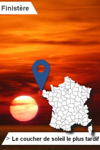 29 finist re le d partement o le soleil se couche le plus tard les records originaux des - Le soleil se couche a l ouest ...