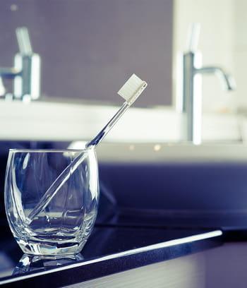 le verre brosse dents qu 39 on laisse s 39 entartrer attaquez vous ces endroits que vous ne. Black Bedroom Furniture Sets. Home Design Ideas