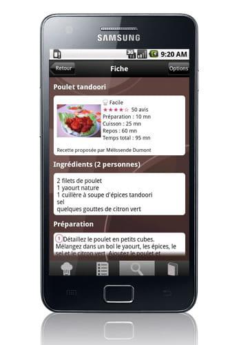 Recettes de cuisine gratuites sur android les services for L internaute cuisiner