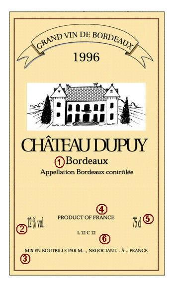 etiquette a vin