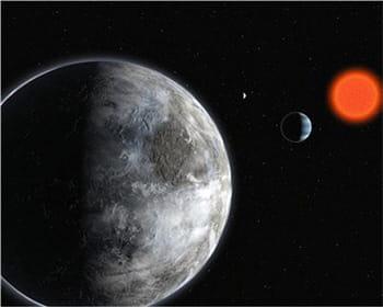 le système gliese 581 abriterait une planète tellurique.