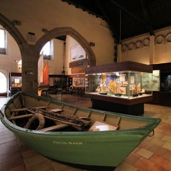salle d'exposition du musée de la pêche.