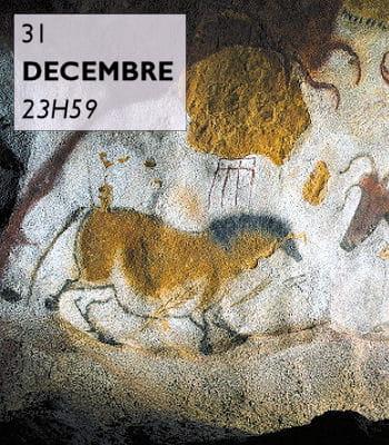 dans la grotte de lascaux, sommet survivant de l'art pariétal.