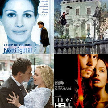 coup de foudre à notting hill, mary poppins, match point, from hell... ont été