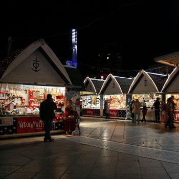 le marché de noël à montpellier.