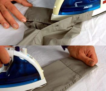 les manches comment bien repasser une chemise linternaute. Black Bedroom Furniture Sets. Home Design Ideas