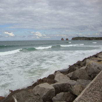 la plage d'hendaye