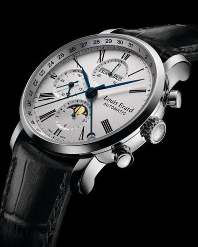 excellence moon phase 24 hour chronograph de louis erard. Black Bedroom Furniture Sets. Home Design Ideas