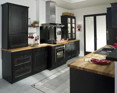 une cuisine r tro cuisines les tendances pour 2013 linternaute. Black Bedroom Furniture Sets. Home Design Ideas