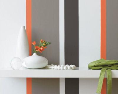bandes de couleurs 20 peintures pour donner de la couleur votre int rieur linternaute. Black Bedroom Furniture Sets. Home Design Ideas