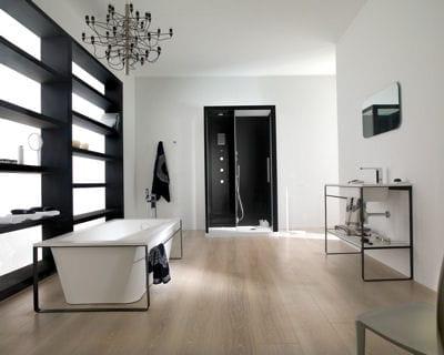 Un style minimaliste des id es pour am nager votre salle de bains lintern - Baignoire porcelanosa prix ...