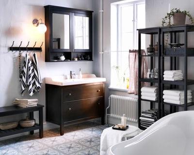 les concepteurs artistiques meuble salle de bain noir ikea. Black Bedroom Furniture Sets. Home Design Ideas