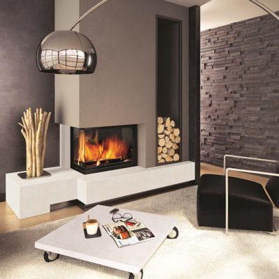 une chemin e d 39 angle po les et chemin es les nouveaux mod les 2013 linternaute. Black Bedroom Furniture Sets. Home Design Ideas