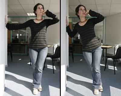 6 le bras qui pousse le mur 10 exercices pour faire du sport son bureau linternaute. Black Bedroom Furniture Sets. Home Design Ideas