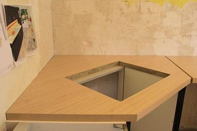 Percer le trou de la plaque de cuisson - Meuble pour four encastrable et table de cuisson ikea ...
