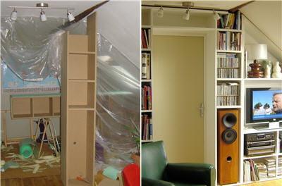 gagner une pi ce gr ce une cloison mobile linternaute. Black Bedroom Furniture Sets. Home Design Ideas