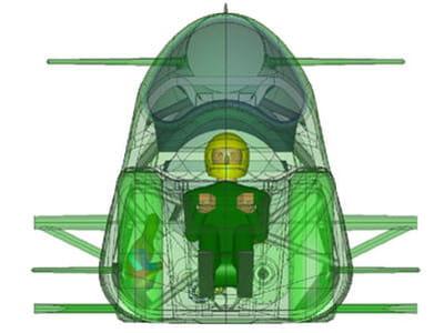 le pilote va subir des forces très importantes au moment de l'accélération et de