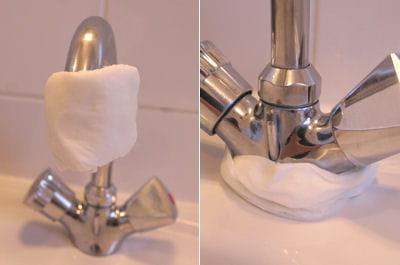 entourer le robinet avec le tissu enlever le calcaire de vos robinets linternaute. Black Bedroom Furniture Sets. Home Design Ideas
