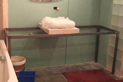 La r alisation du plan vasque r nover enti rement sa salle de bains linte - Fabriquer sa salle de bain ...