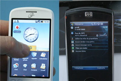 android contre windows mobile 6.1
