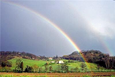 l'arc-en-ciel consiste en une décomposition de la lumière blanche.
