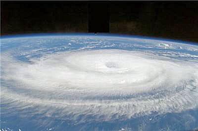 ouragan pris de la station spatiale internationale.