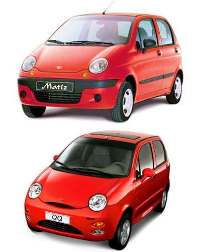 daewoo matiz et chery qq voitures chinoises l 39 art du copier coller linternaute. Black Bedroom Furniture Sets. Home Design Ideas