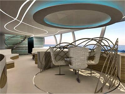 ce palace flottant et volant peut accueillir une dizaine de personnes à son
