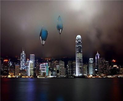 le dirigeable volera au-dessus des villes pour que les hôtes profitent du