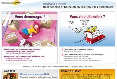 Faire suivre son courrier postal depuis internet gagnez du temps avec les s - Laposte demenagement suivi courrier ...