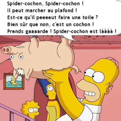 Spider cochon les 50 r pliques cultes des simpson linternaute - Carte anniversaire simpson ...