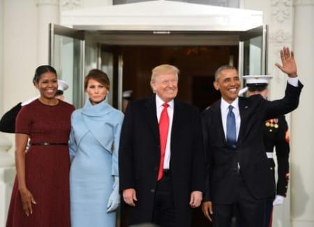 Investiture et discours de Trump en images