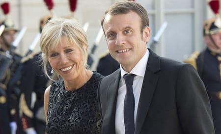 Photo de Brigitte Macron Trogneux et de son mari à l'Elysée