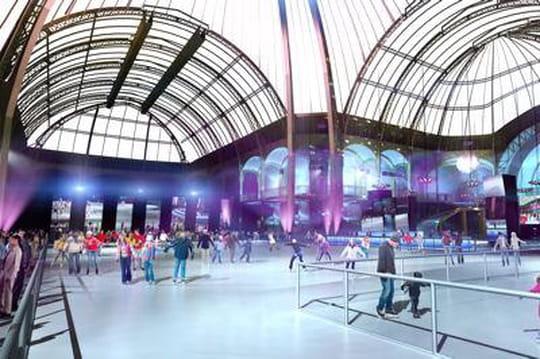 Une patinoire installée au Grand Palais